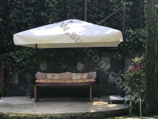 Yandan Direkli Bahçe Şemsiyesi